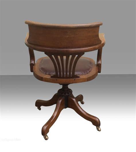 Antique Desk Chairs Swivel by Antique Swivel Captains Desk Chair Antiques Atlas