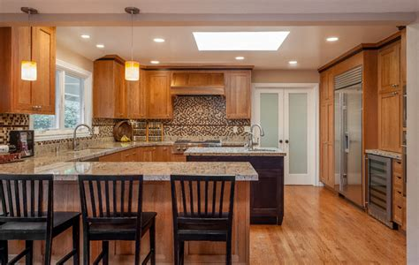 mission style kitchen island craftsman style kitchen with black island craftsman kitchen san francisco by remodelwest