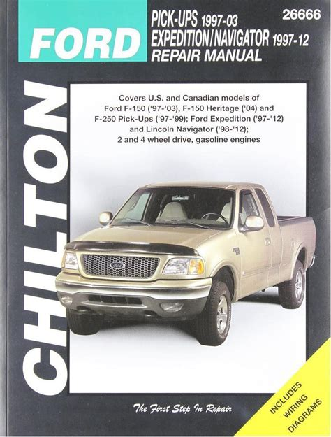 car repair manuals online free 1989 ford ranger parental controls 1997 2003 ford f150 1997 1999 f250 chilton repair service shop manual 2096 ebay