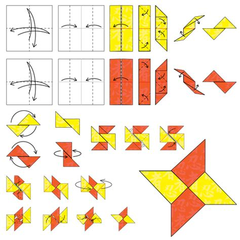 paper shuriken origami animated origami how to make origami