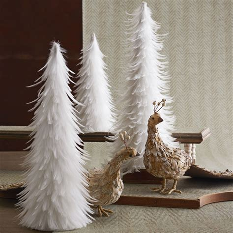 feather ornaments for trees beautiful white feather trees set of 2 nova68