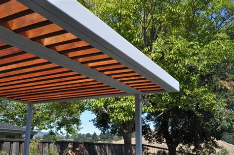 steel and wood arbor modern patio san francisco by huettl landscape architecture