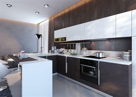 designer kitchen units kitchens with contrast