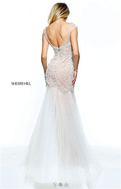 low back beaded dress sherri hill 51046 low back beaded dress