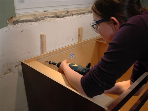 how to install kitchen island cabinets installing kitchen cabinets pictures ideas from hgtv hgtv