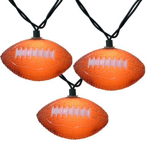 bunch o footballs string lights