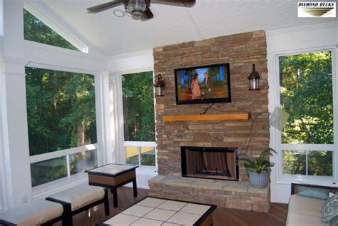 Building Screened Porch by Screened Porch Amp Fireplace Installation Maryland Outdoor