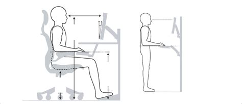 computer desk ergonomics measurements ergonomic office desk chair and keyboard height calculator