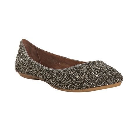 beaded flats jeffrey cbell pewter beaded sprinkles flats in silver