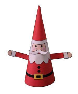 santa paper craft cone santa paper craft