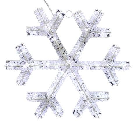 outdoor snowflake decorations shop living 0 17 ft snowflake lighted outdoor