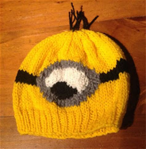free knitted minion hat pattern despicable me minion hat allfreeknitting