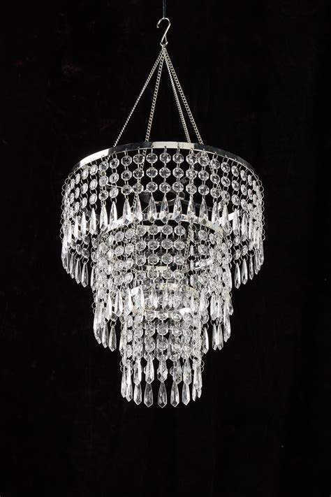 acrylic crystals for chandeliers 3 tiered acrylic drops chandelier w light kit ebay