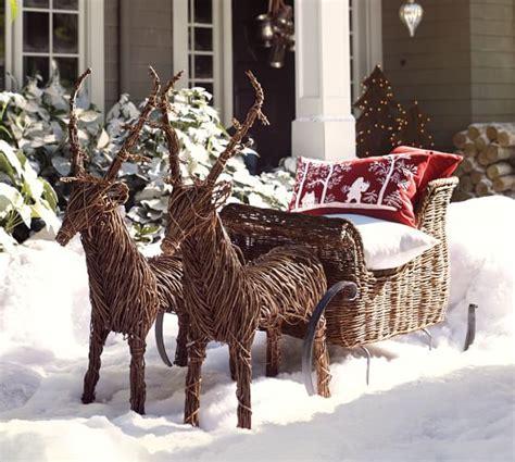 rattan reindeer rattan reindeer pottery barn