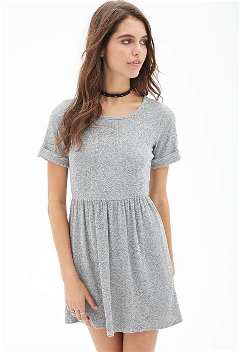 grey knit dress forever 21 ribbed knit marled dress in gray grey
