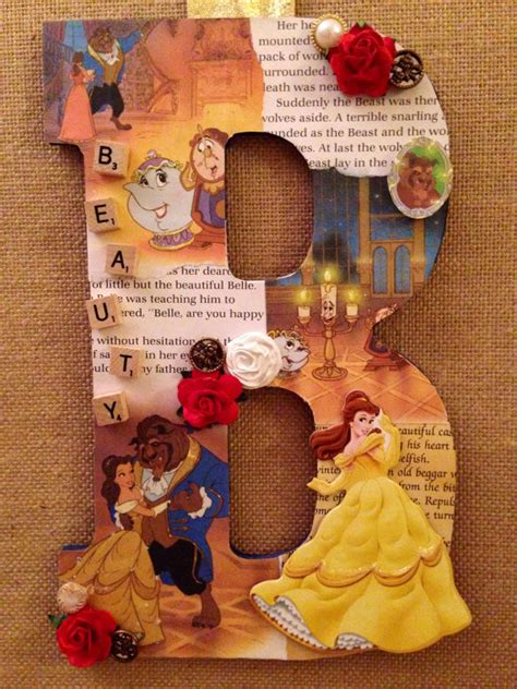 the beast crafts for any letter in and the beast disney themed wooden