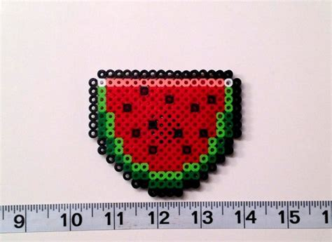 watermelon perler pin by ms jackson on perler bead things