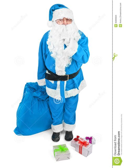 blue santa blue santa asks to be stock photos image