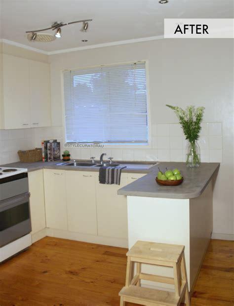 Diy Kitchen Makeover Ideas diy concrete countertop