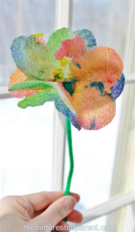 paper towel arts and crafts tie dye paper towel the pinterested parent