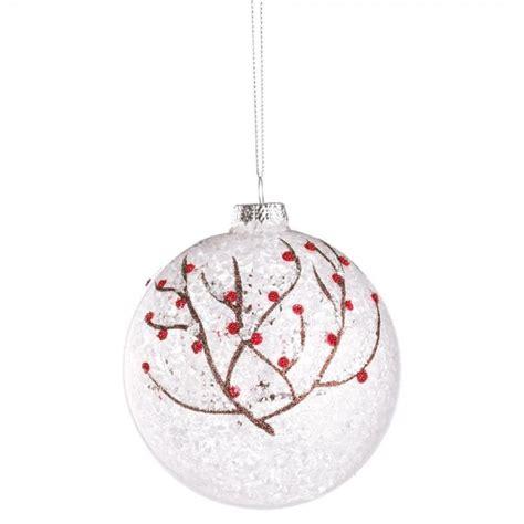 bolas arbol de navidad bola 225 rbol de navidad cristal transparente ramitas nevadas