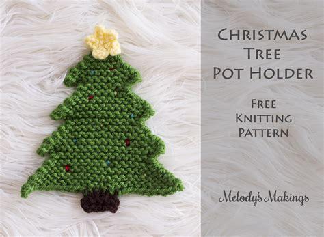 how to knit a tree tree pot holder pattern crochet knit
