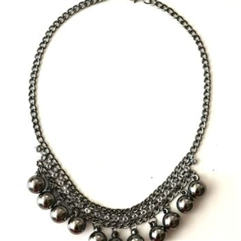thick beaded necklace best thick silver chain necklace products on wanelo