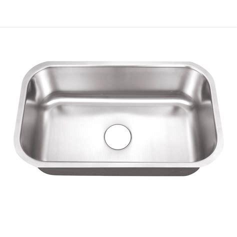 stainless steel undermount kitchen sinks single bowl foret undermount stainless steel 30 in 0