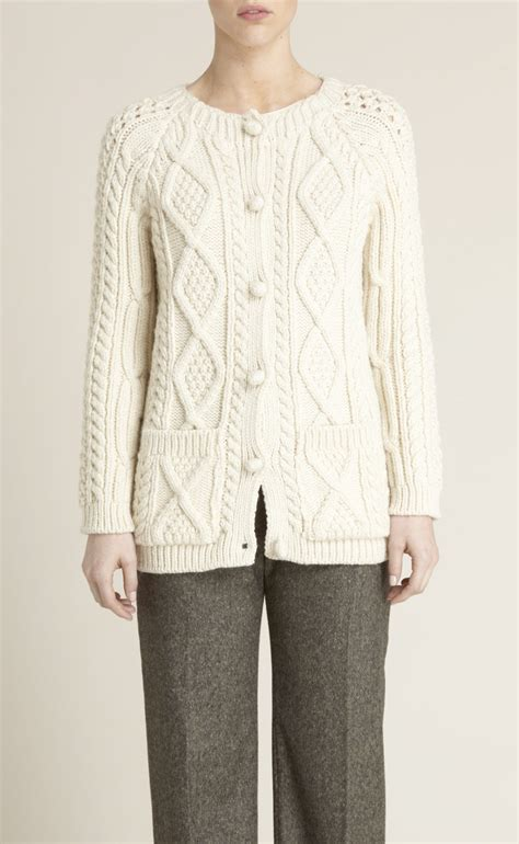 chunky cable knit cardigan sweater adam lippes chunky wool cable knit cardigan sweater in