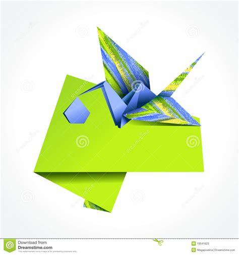 stork origami origami stork delivering boy stock photos image 19541623