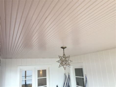 white bead board beadboard ceiling install