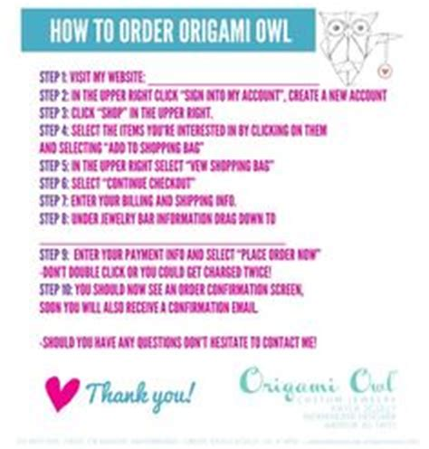 How To Order Origami Owl Steps Walk Your