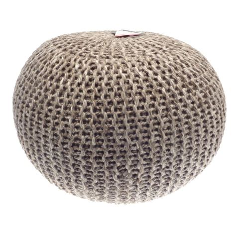 knitted foot stools footstool wool pouffe knitted tonys textiles