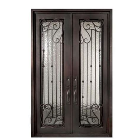 home depot wrought iron paint iron doors unlimited 62 in x 98 in armonia classic