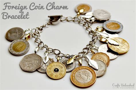 charms to make jewelry diy charm bracelet foreign coins crafts unleashed