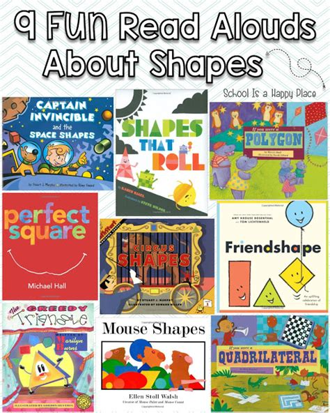 picture books about shapes school is a happy place you better shape up activities