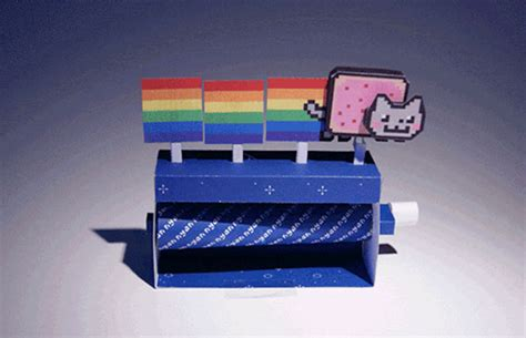 how to make a cool craft out of paper paper craft nyan cat is and cool slashgear