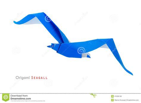 origami seagull origami seagull stock photo image 41539748