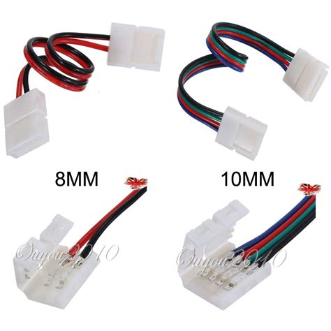 light connectors 8mm 2pin 10mm 4pin led light connector adapter cable