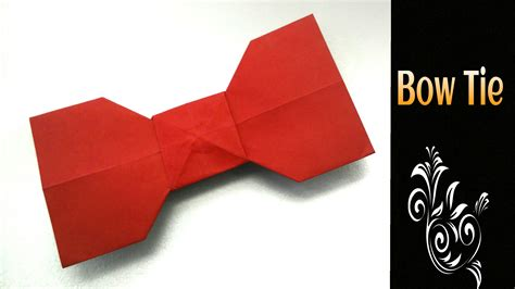 tie origami origami tutorial to make an easy paper quot bow tie
