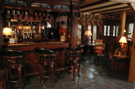 Cheap Bathroom Remodel Ideas For Small Bathrooms english style basement pub traditional home bar