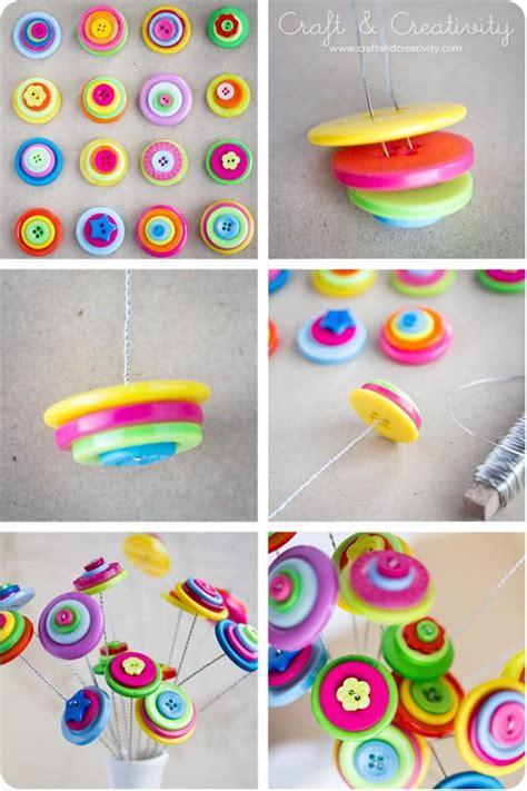 diy arts and craft projects 23 easy to make and extremely creative button crafts tutorials