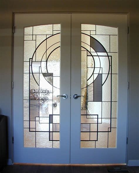 custom interior glass doors crafted custom stained glass in doors by