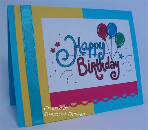 how to make a birthday card birthday card easy to make birthday cards print