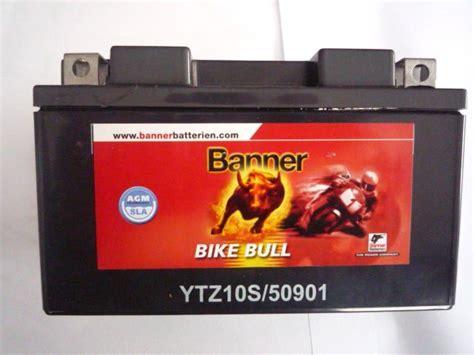 Motorrad Batterie Ytz10s by Ytz10s Banner Agm Sla Motorradbatterie 12v 9ah 50901