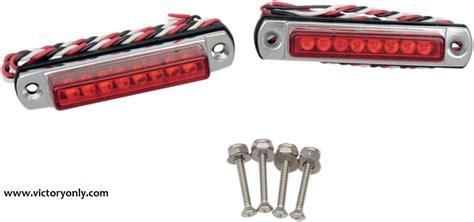 led light bar motorcycle led light bar black chrome mount great custom victory