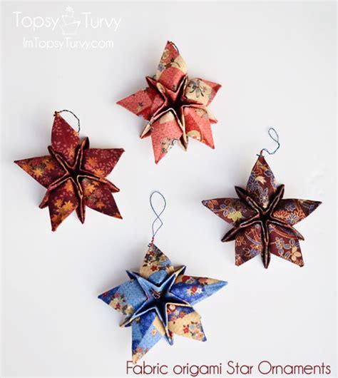fabric origami ornaments folded ornaments fabric ornaments