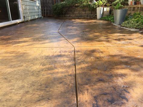 seal concrete patio concrete stain and sealer patio makeover cheng concrete exchange