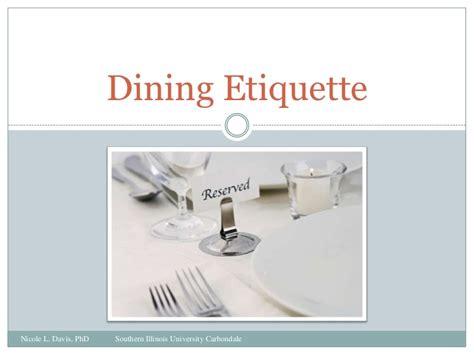 Dining Table Etiquettes Dining Etiquette