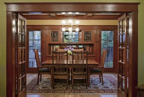 woodwork interiors laurelhurst 1912 craftsman dining room after hooked on